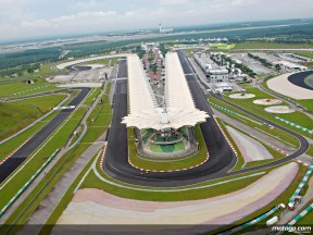 Aerial shot of the Sepang Circuit
