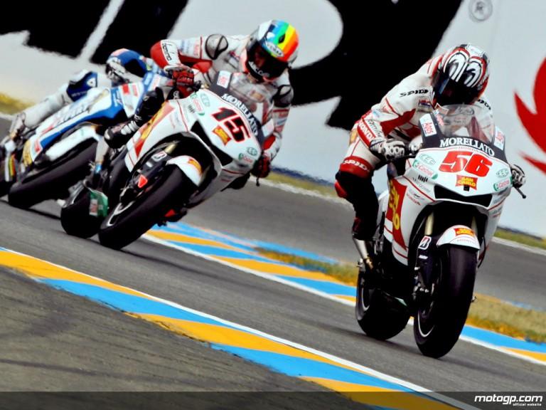 San Carlo Honda Gresini riders on track