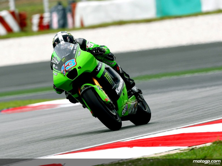 Anthony West in action in Sepang