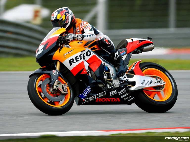 Dani Pedrosa in action in Sepang