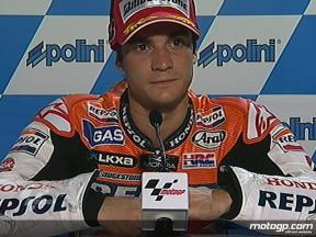 Dani Pedrosa interview after QP in Sepang
