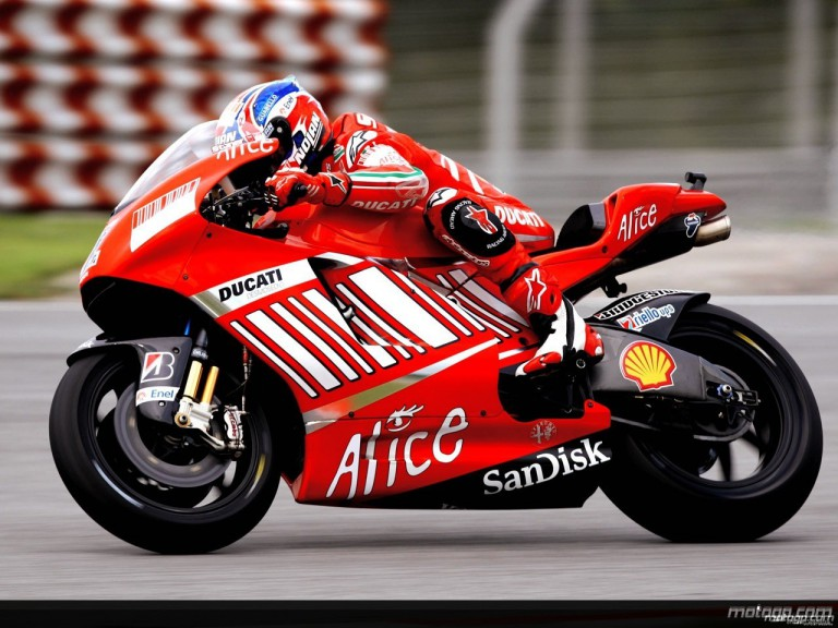 Casey Stoner in action in Sepang