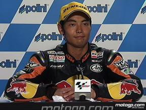 Hiroshi Aoyama interview after race in Sepang