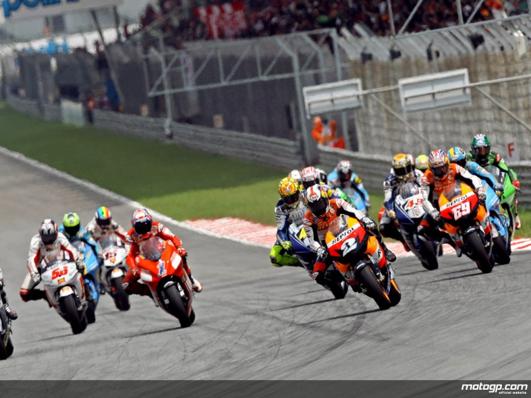 MotoGP Group in action in Spang