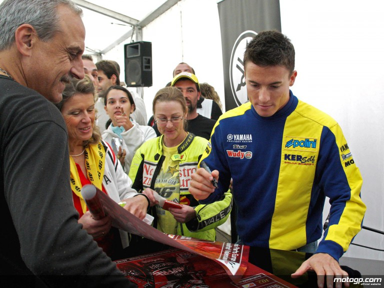 James Toseland meets the fans during Valencia´s Day of Champions