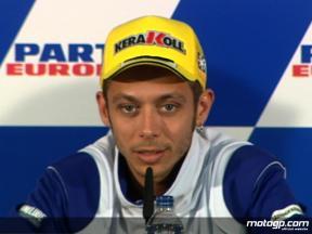 Valentino Rossi talks Valencia