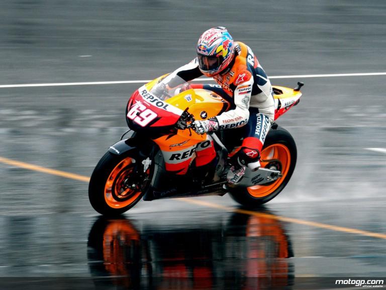 Nicky Hayden on track