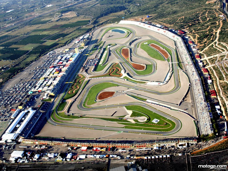 Aerial Shot of the Comunitat Valenciana circuit