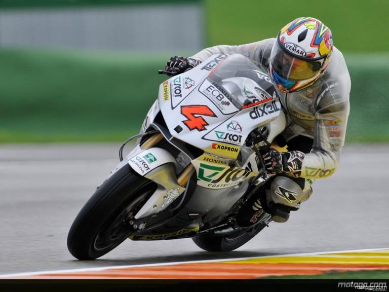 Andrea Dovizioso in action during Practice in Valencia