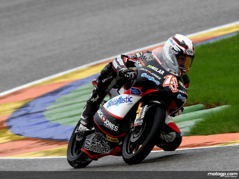 Nicolas Terol in action in Valencia (125cc)