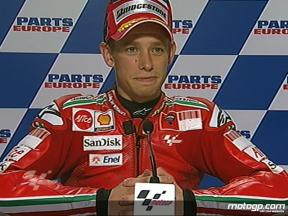 Casey Stoner interview after QP in Valencia