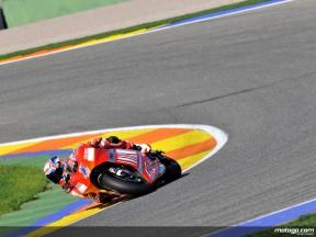 Casey Stoner on track in Valencia