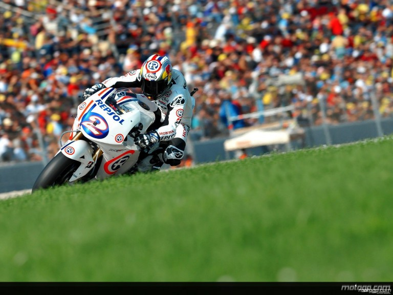 Dani Pedrosa in action in Valencia (MotoGP)