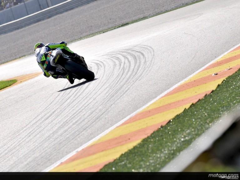 Valentino Rossi in action in Valencia (MotoGP)