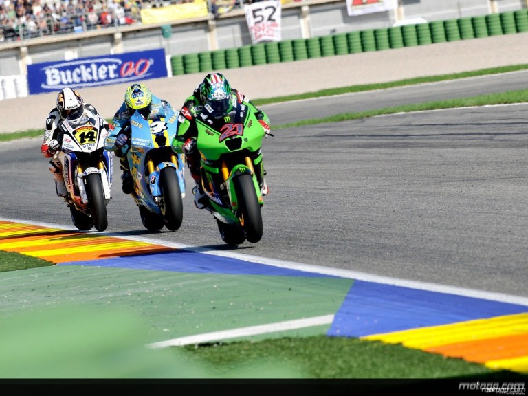 MotoGP Group in action in Valencia (MotoGP)