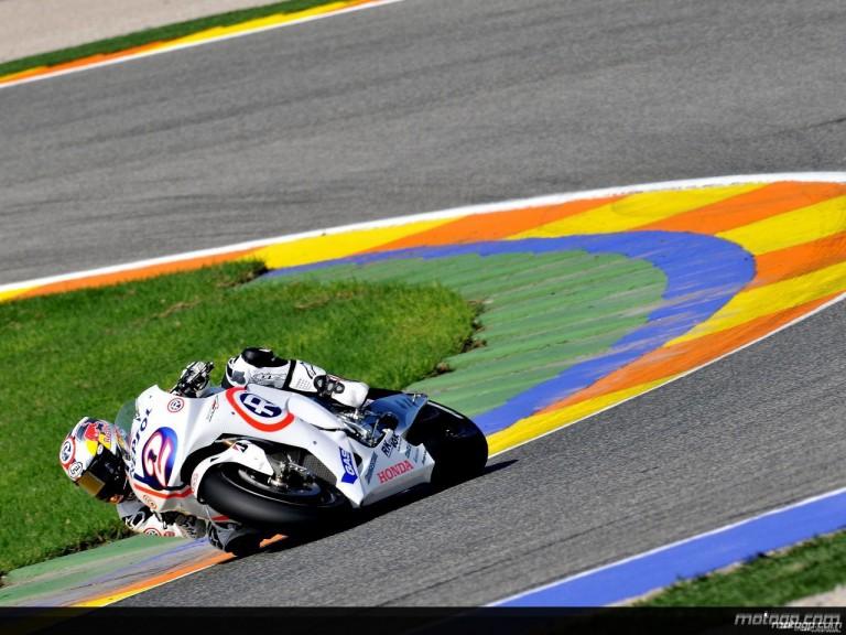 Dani Pedrosa on track in Valencia (MotoGP)