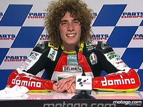 Marco Simoncelli interview after race in Valencia