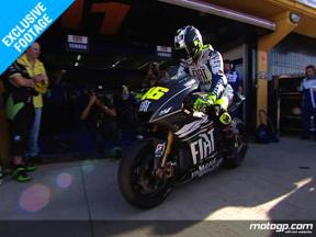 EXCLUSIVE: Rossi test the 2009 M1 prototype in Valencia