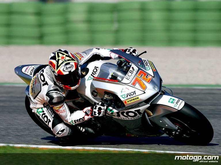 Takahashi MotoGP test debut in Valencia