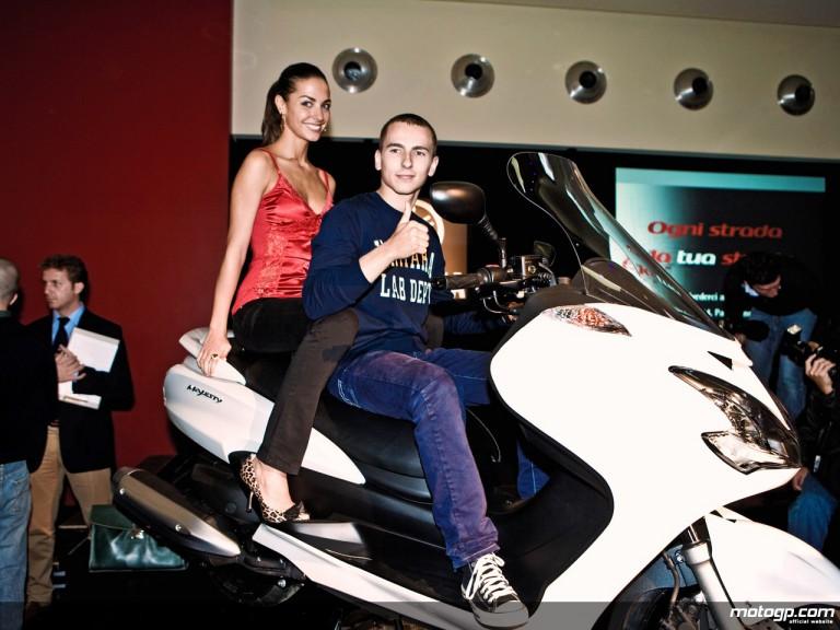 Jorge Lorenzo at Milan motorbike show