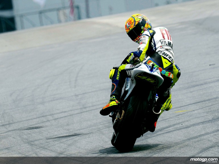 Valentino Rossi at Malaysian track