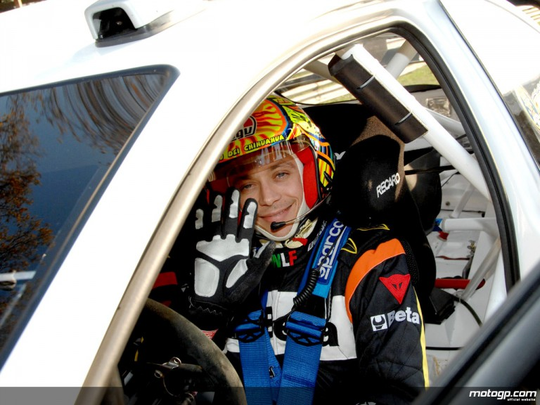 Valentino Rossi in Monza Rally