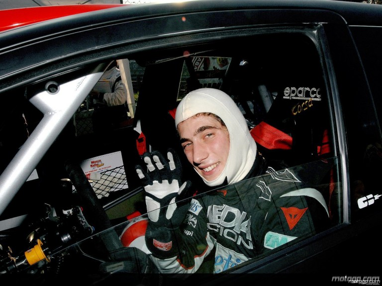 Marco Simoncelli in the Monza Rally Show