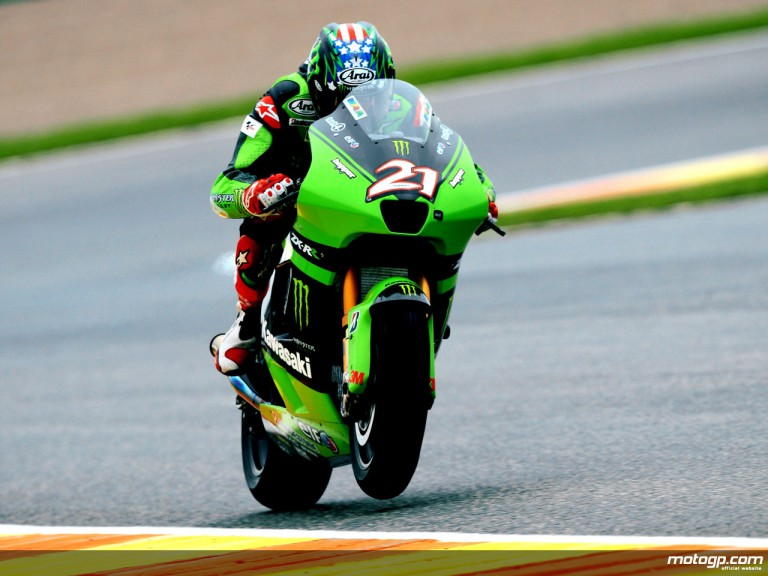 Kawasaki´s John Hopkins on track