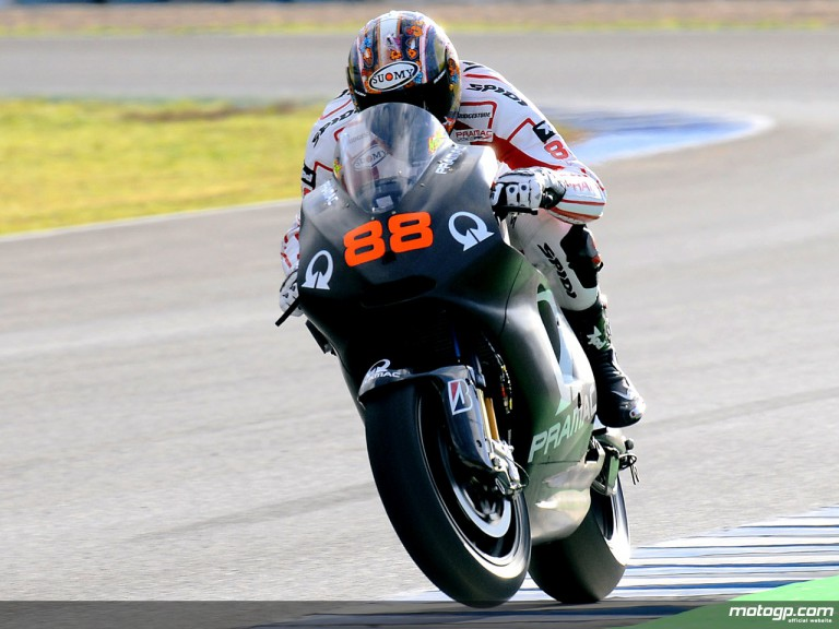 Niccolò Canepa on track in Jerez Test