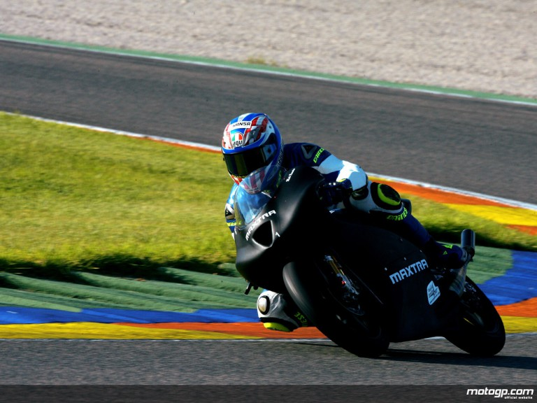 Michael Ranseder on track at Valencia test