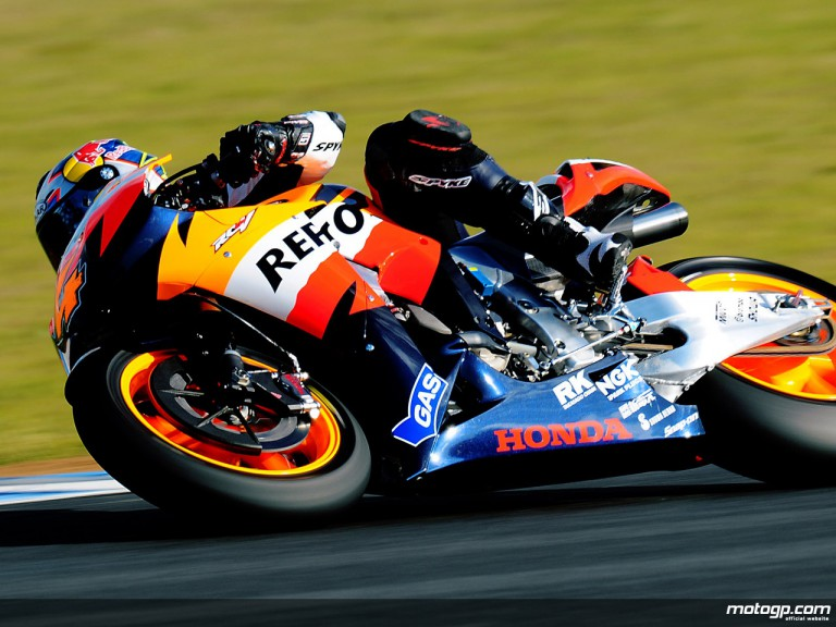 Andrea Dovizioso in MotoGP test in Jerez