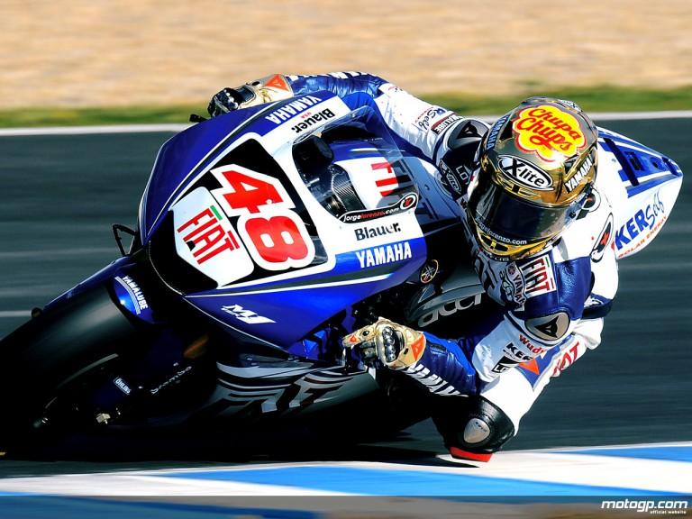 Jorge Lorenzo in MotoGP test in Jerez
