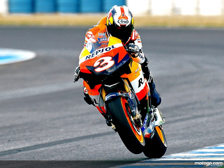 Dani Pedrosa in MotoGP test in Jerez
