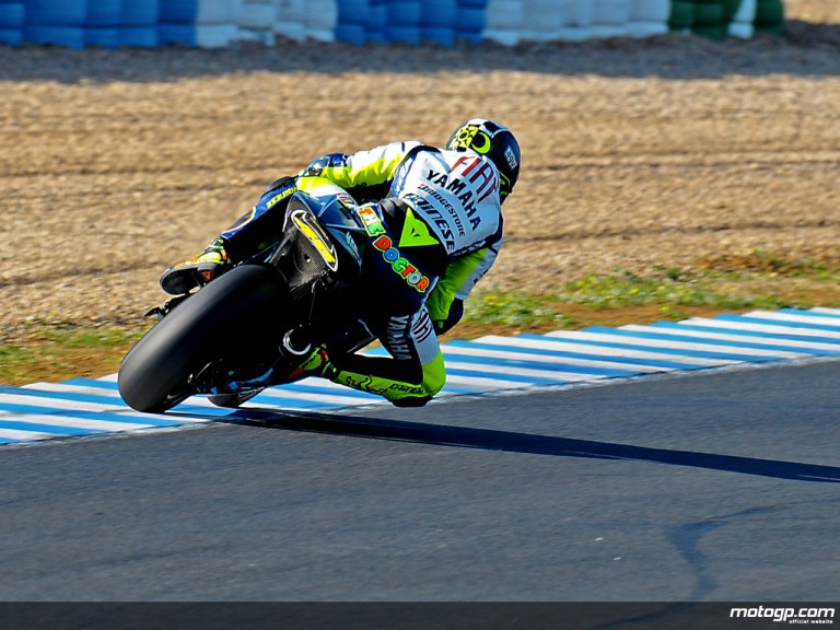 Valentino Rossi in MotoGP test in Jerez