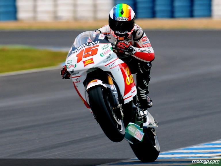 Alex de Angelis in MotoGP test in Jerez