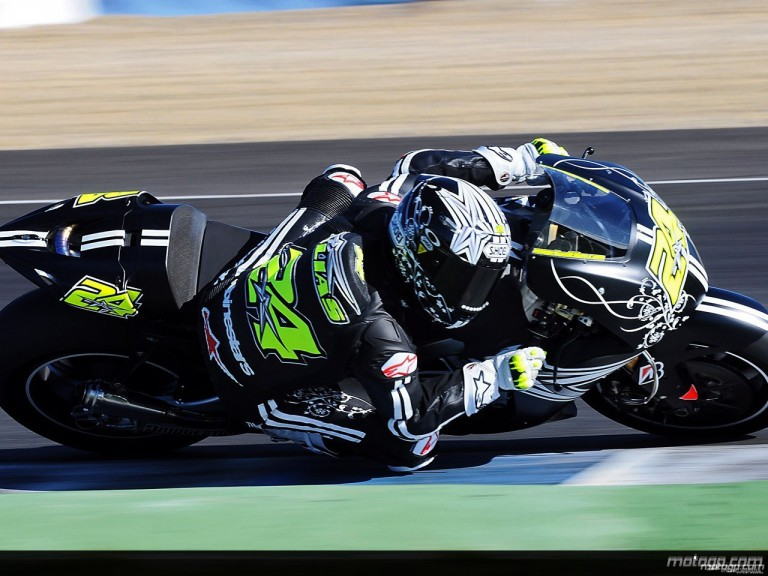 Toni Elias in MotoGP test in Jerez