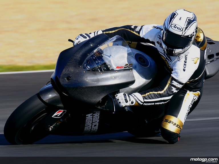 Sete Gibernau in MotoGP test in Jerez