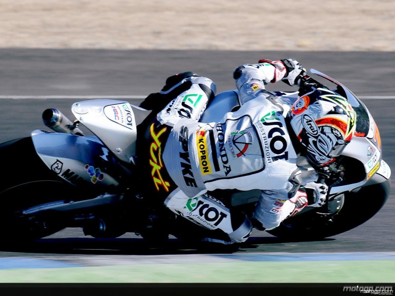Yuki Takahashi in MotoGP test in Jerez