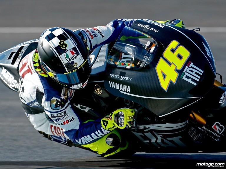 Valentino Rossi in MotoGP test in Jerez