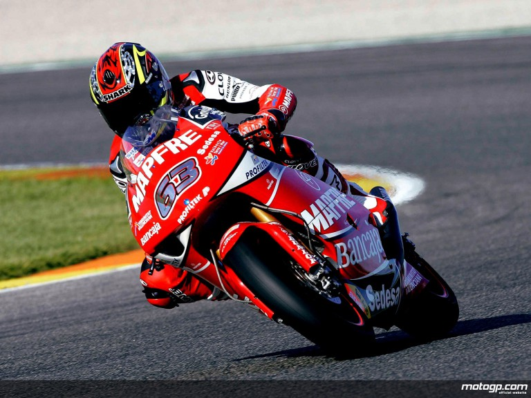Mike di Meglio with Mapfre in Valencia