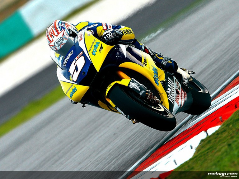 Tech 3 Yamaha´s Colin Edwards on track