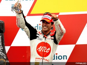 Toni ELias on the Podium at Brno