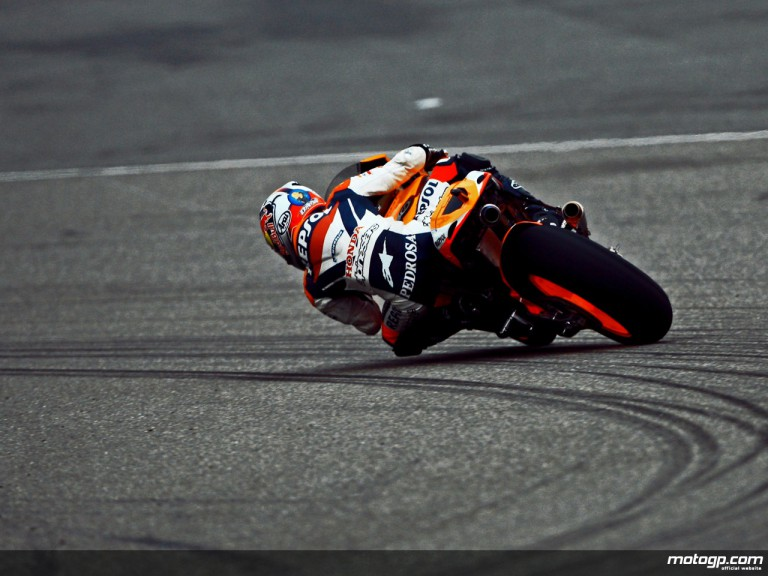 Repsol Honda´s Dani Pedrosa in action