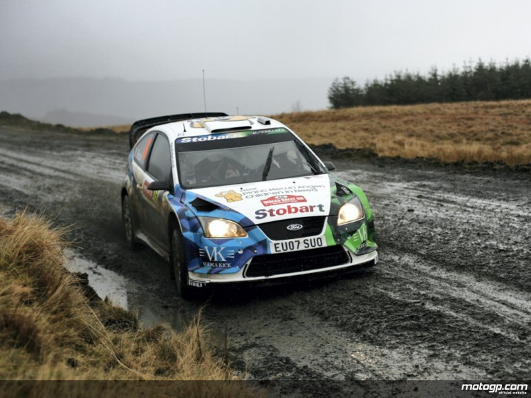 Valentino Rossi at the Wales Rally GB