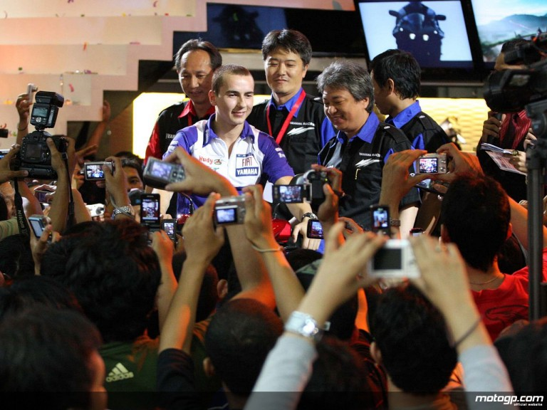 Jorge Lorenzo at the Indonesian Motorshow