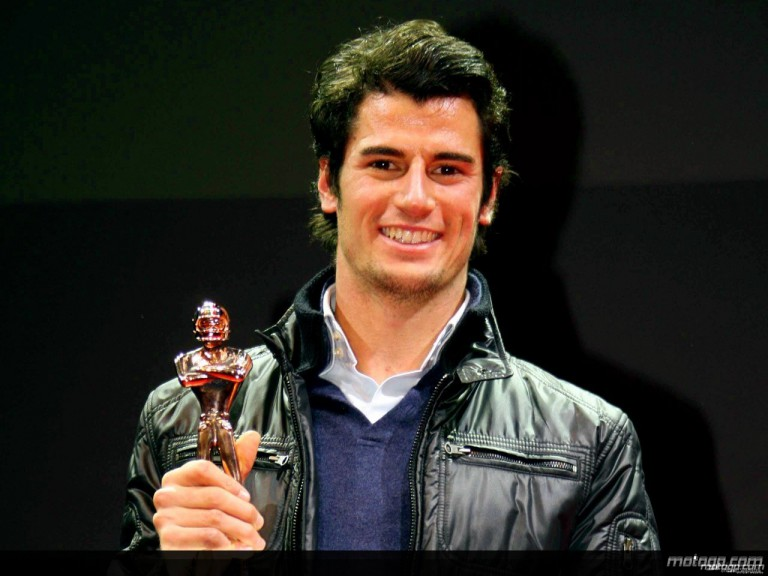 Simone Corsi receiving `Golden Helmet´ at Bologna Motorshow