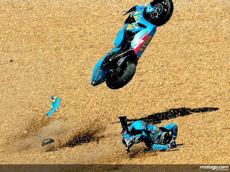 Loris Capirossi´s Crash on QP in Estoril