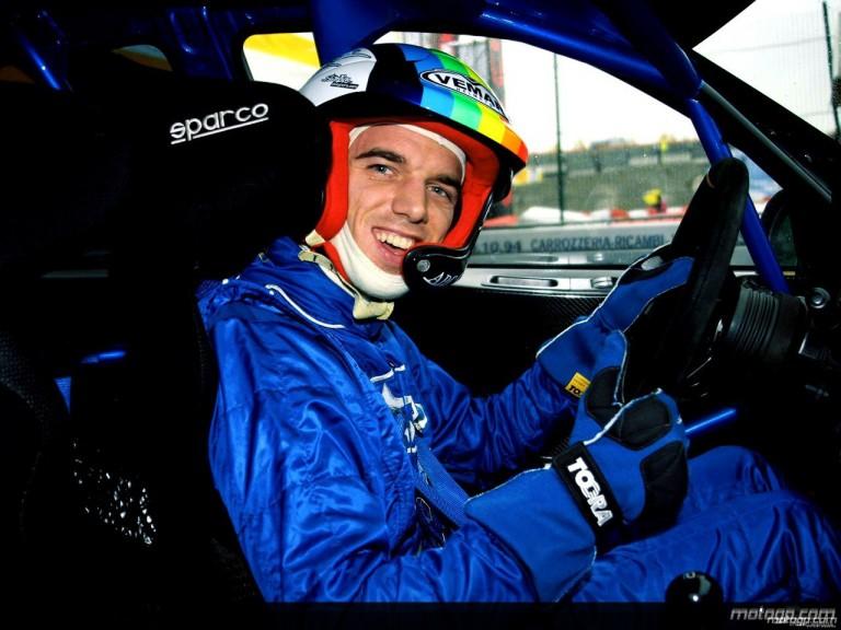 Alex de Angelis at the Bologna Motorshow