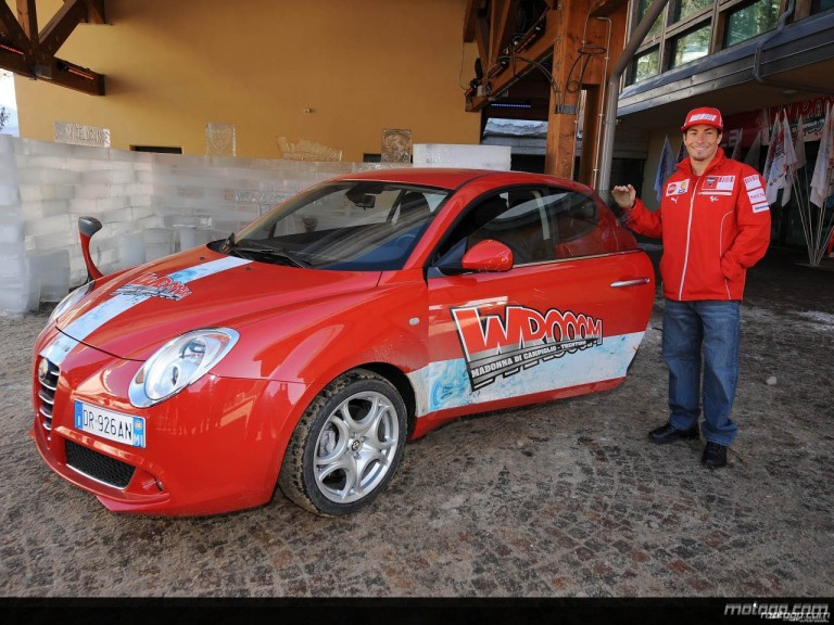 Ducati Marlboro´s Nicky Hayden at the Madonna di Campiglio Ski Resort