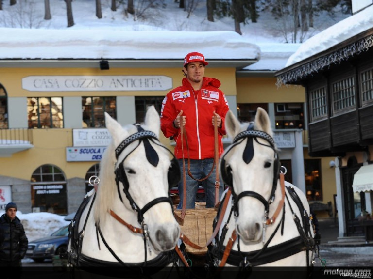 Ducati Marlboro´s Nicky Hayden at the Madonna di Campiglio Ski Resort